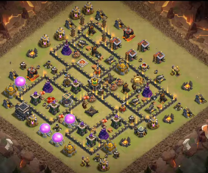 Anti Everything Best Th9 War Base 2019 10