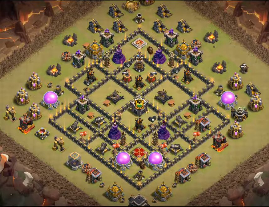 town hall 9 war base link