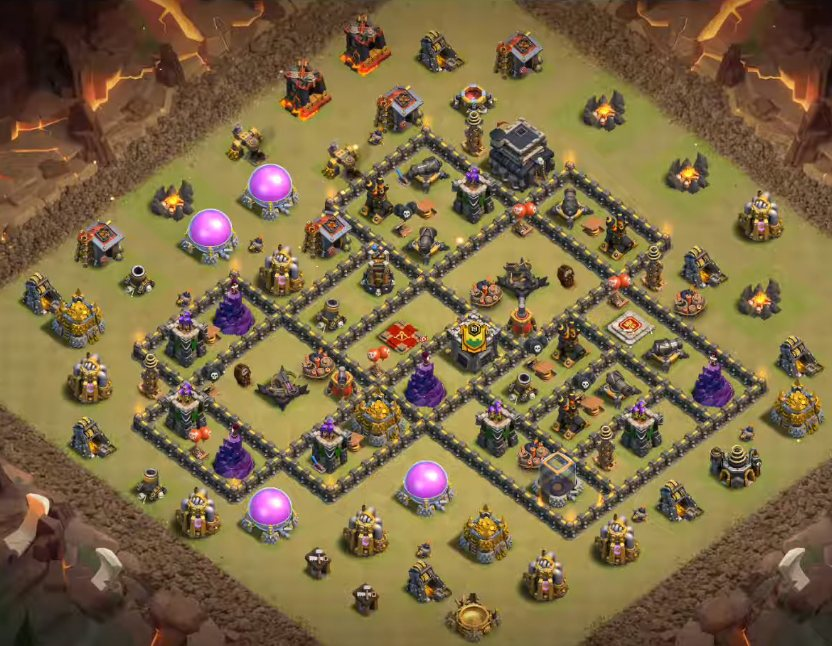 clash of clans th9 war base link