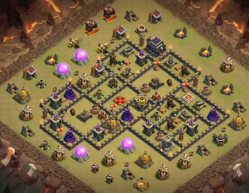 town hall 9 war base anti 3 stars links