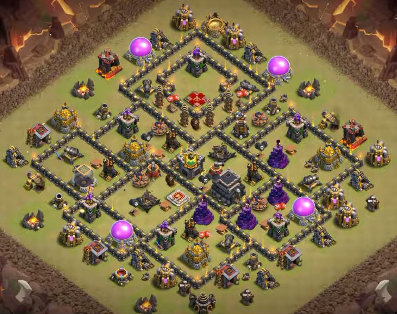 clash of clans town hall 9 war base anti everything link