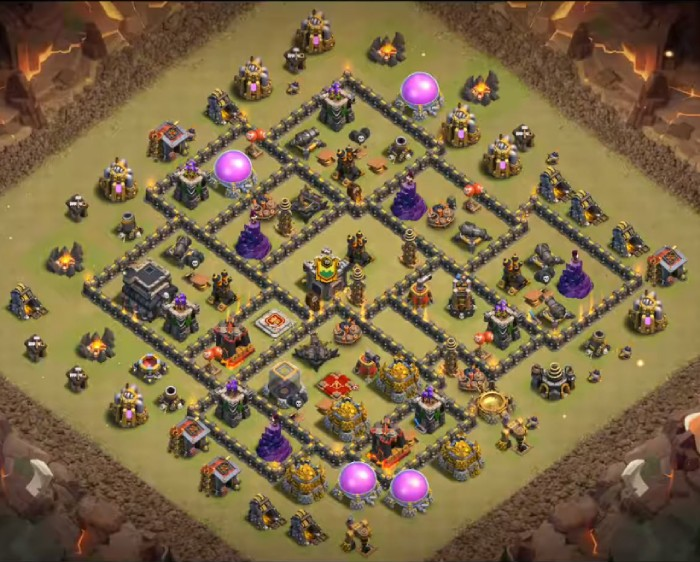 clash of clans war base th9 link