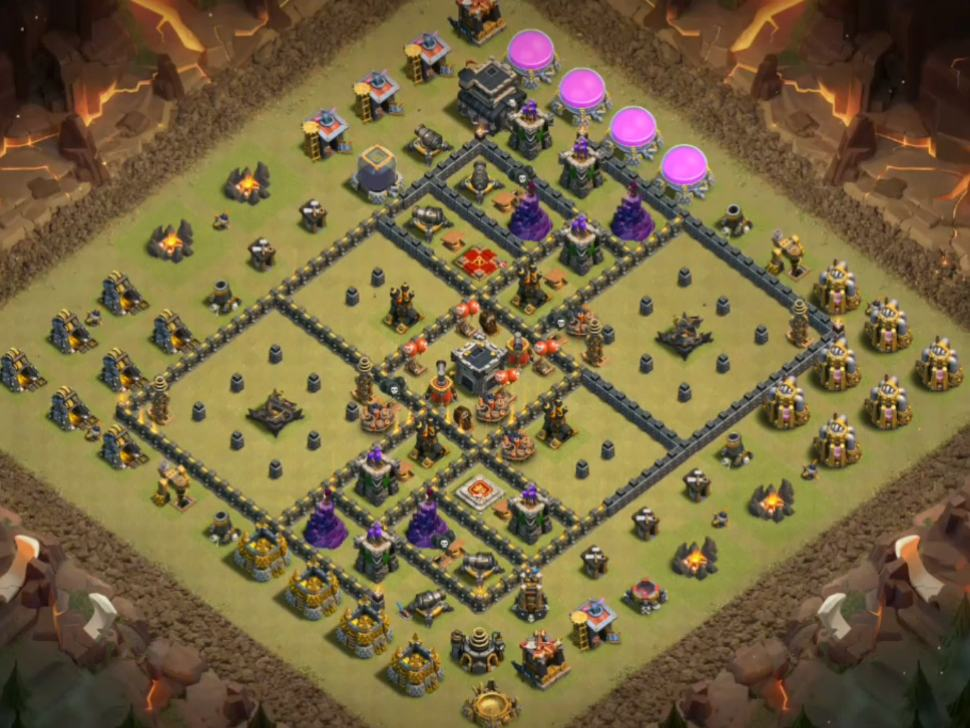 best th9 war base link