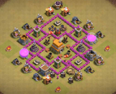 Best TH6 War Base