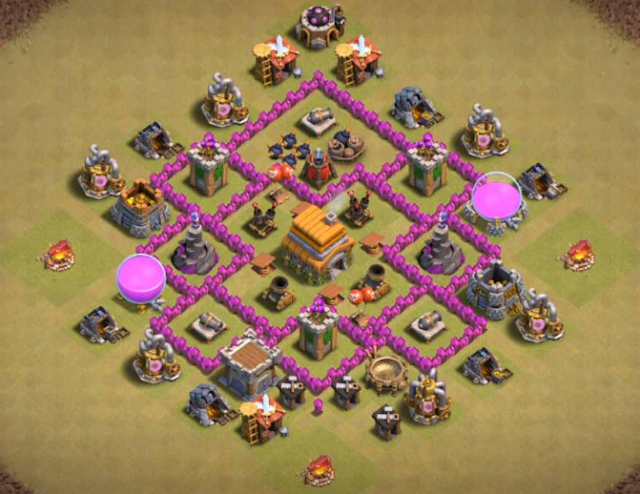 Coc Th 6 Best War Base 7