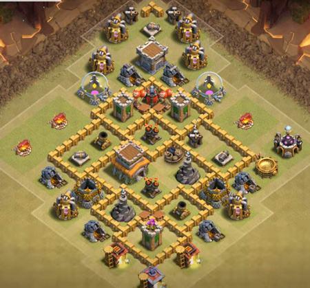 level 6 town hall war base 2019