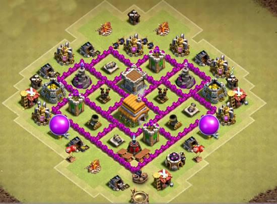 town hall 6 war base