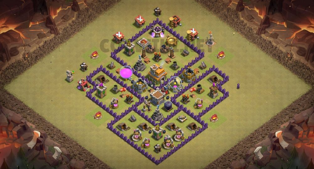 best town hall 7 war base link anti everything