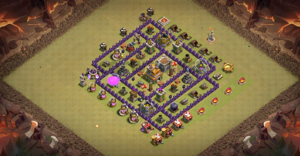 clash of clans th7 war base link