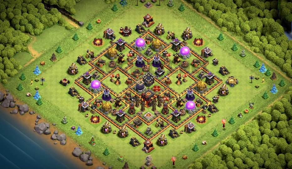 clash of clans th10 farming base link