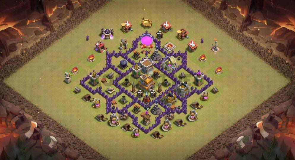 town hall 7 war base link anti everything