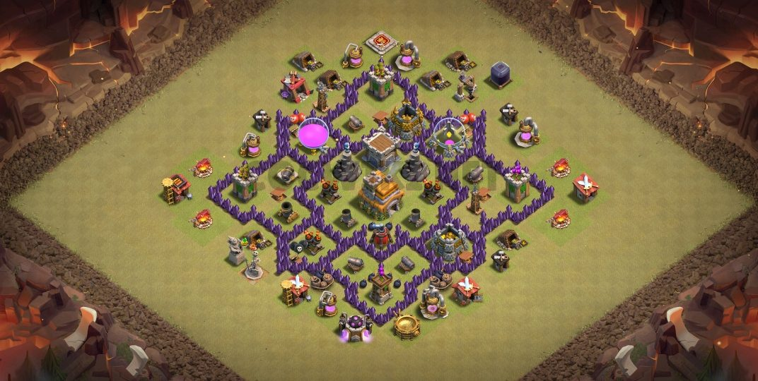 top town hall 7 war village map link