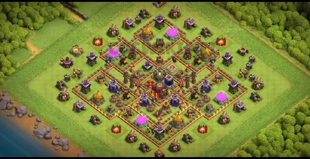 clash of clans th10 farming layout link
