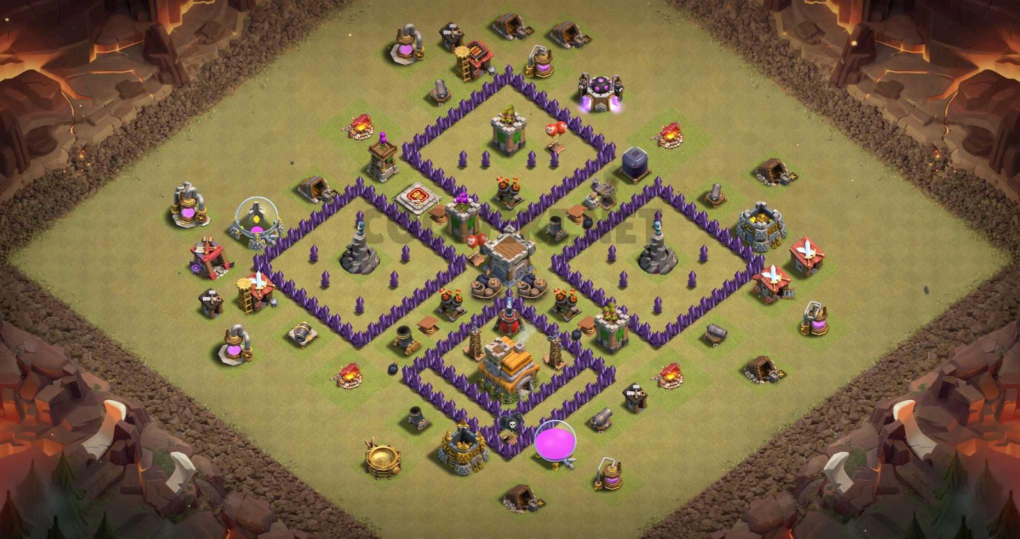 clash of clans anti 3 stars design town hall 7