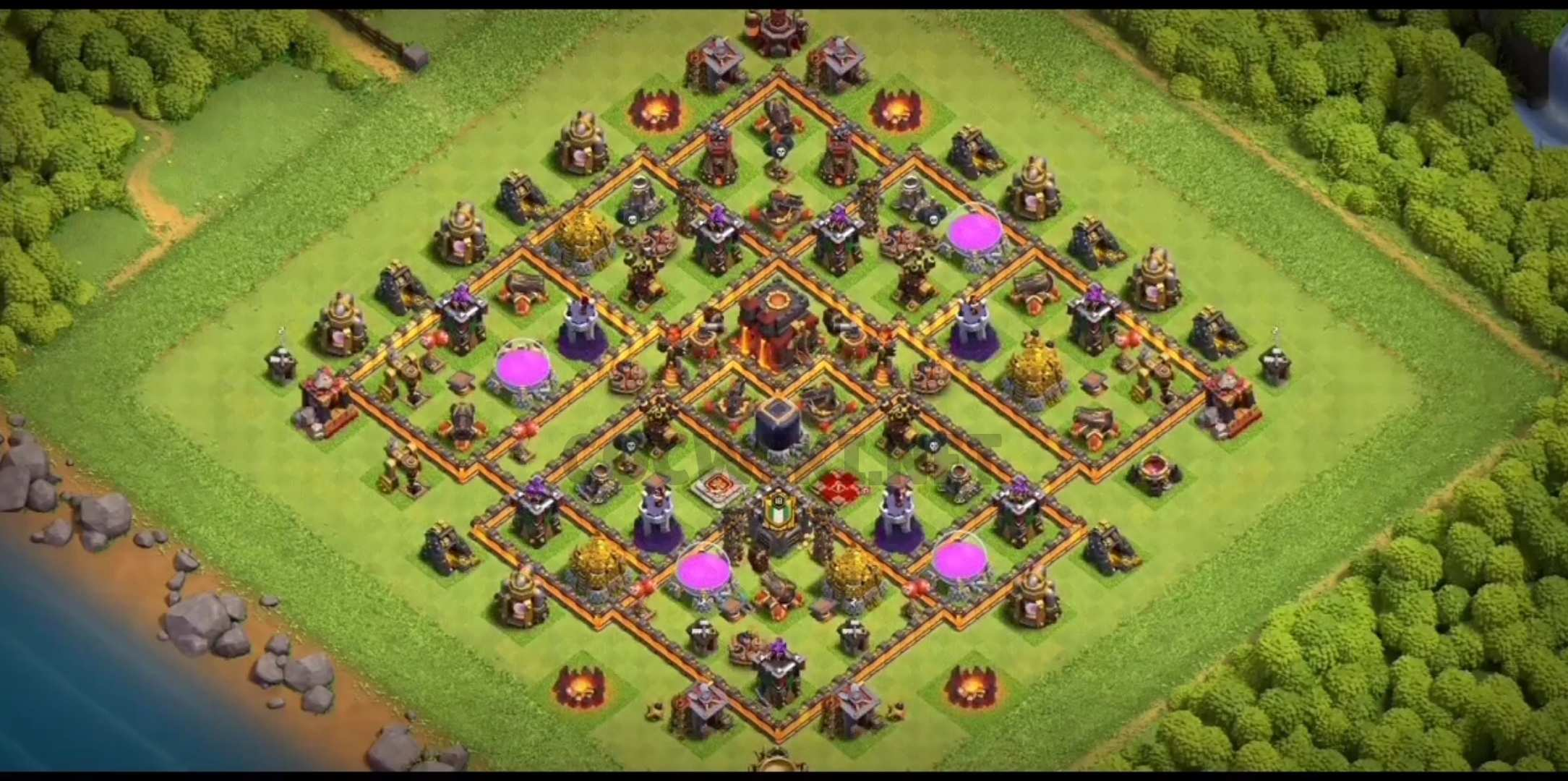 coc th10 farming base link
