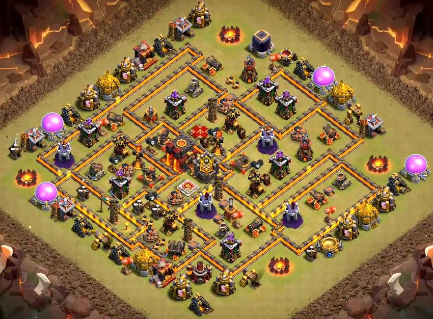 top th10 war base link