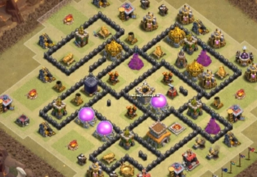 coc th8 war base link