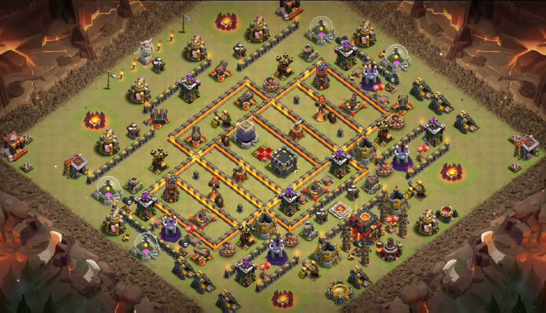 best th10 war base link anti everything