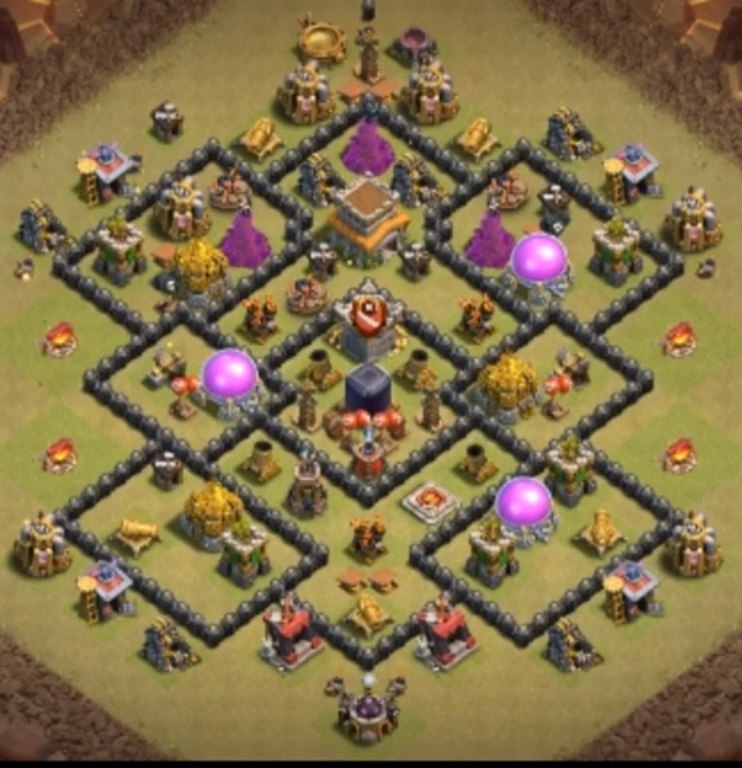 town hall 8 war base link anti everything