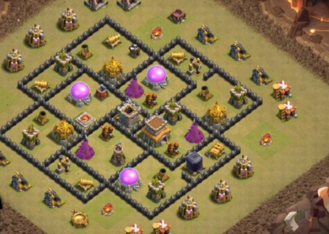 clash of clans th8 war base link