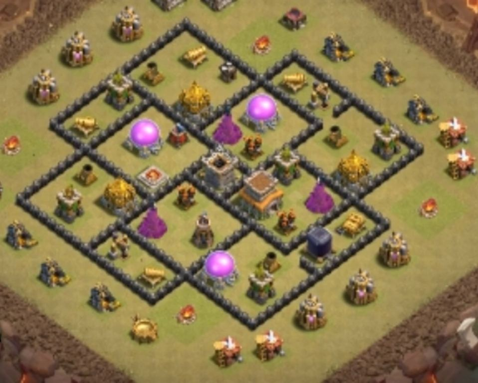best town hall 8 war base link anti everything