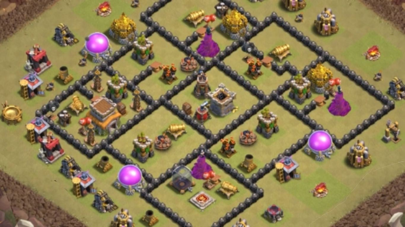 best town hall 8 war base anti dragon