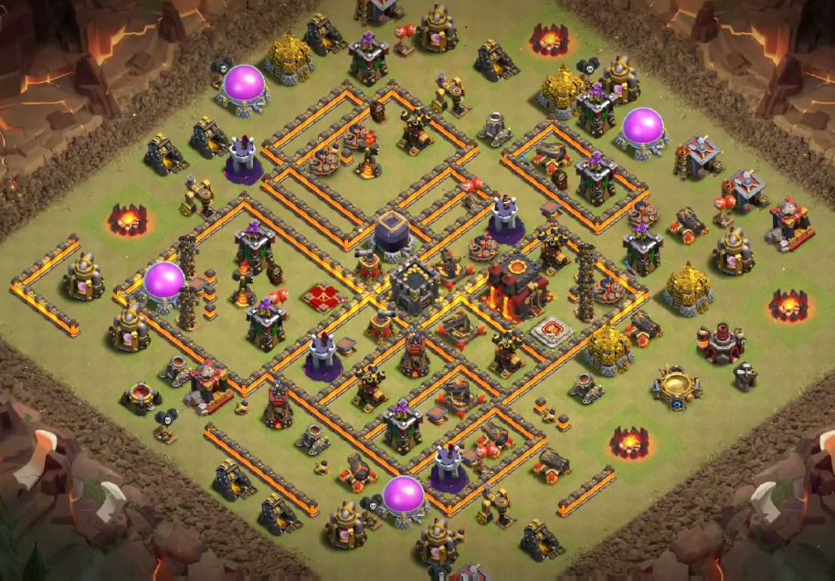 coc th10 war base link