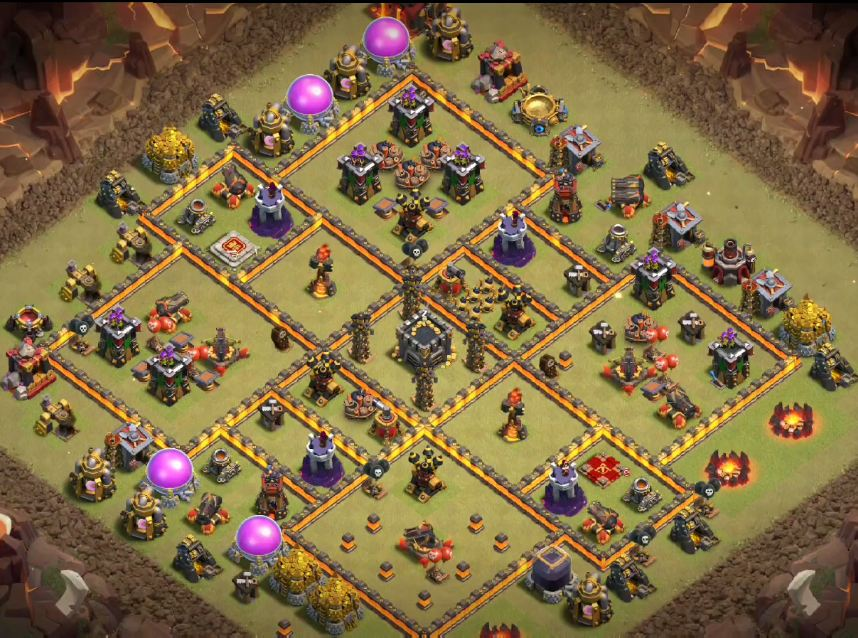 town hall 10 war base link anti 3 stars