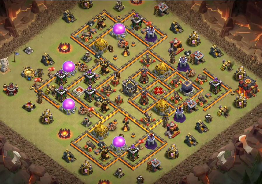 clash of clans war base th10 link