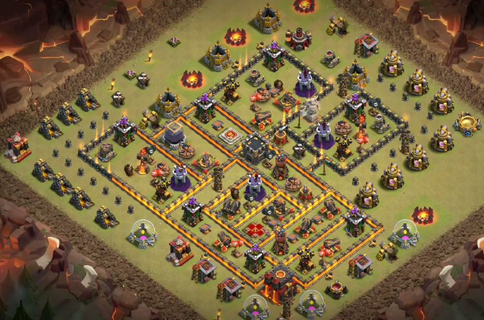 best th10 war base 275 walls link
