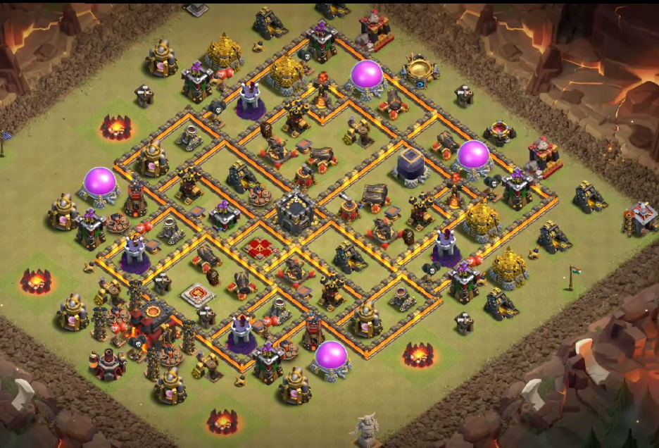 unbeatable th10 war base anti valkyrie