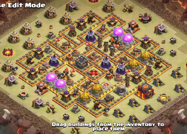Anti 3 Star level 10 base layout anti 3 stars