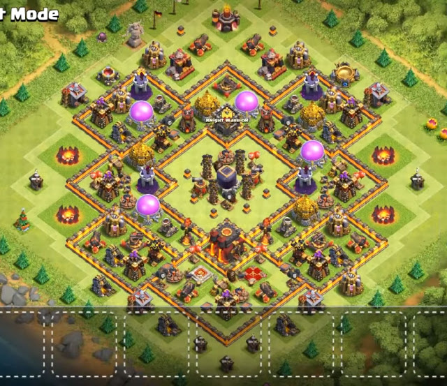 Dark Elixir protecting th10 base design