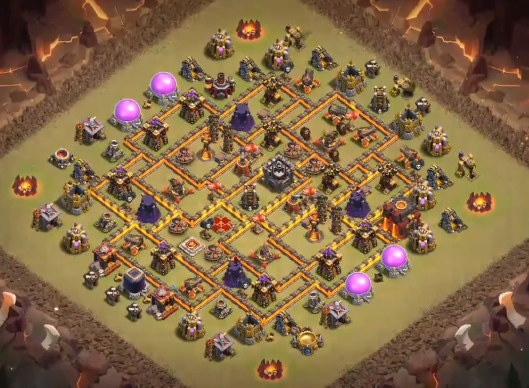 anti 3 stars th10 war base anti hog rider