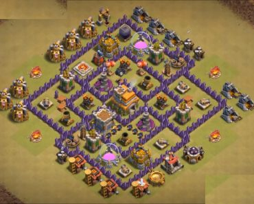 anti dragon th7 war base