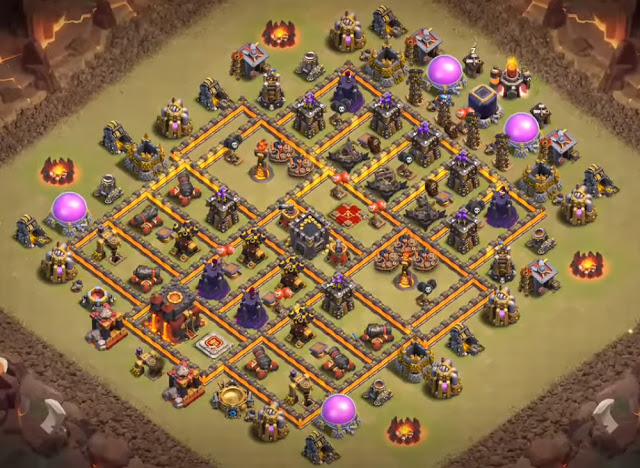anti hog rider base design town hall 10