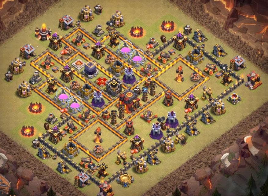 10+ Best Town Hall 10 War Base Designs Anti 2 Stars, 3 Stars