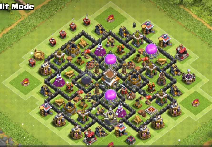 clash of clans town hall 8 farming design