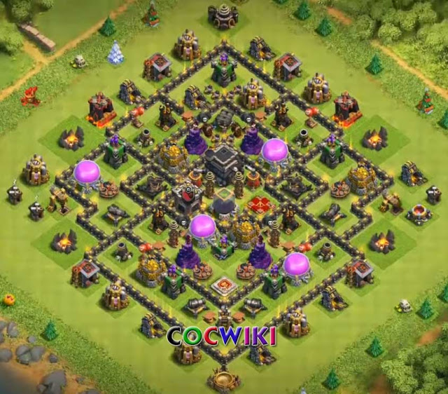 clash of clans town hall 9 farming layout design