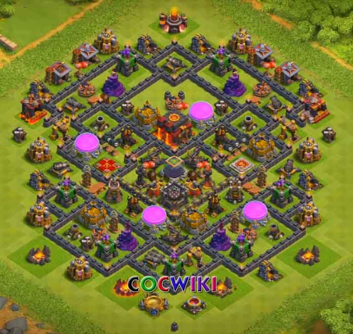 coc clash of clans th10 farming base