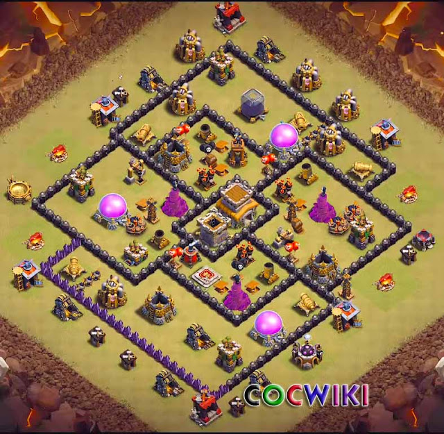 coc th8 base anti 3 stars