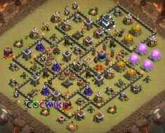 coc th9 base layout in the world