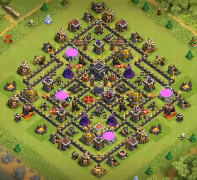 coc th9 farming base anti everything