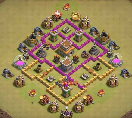 cool level 6 war base