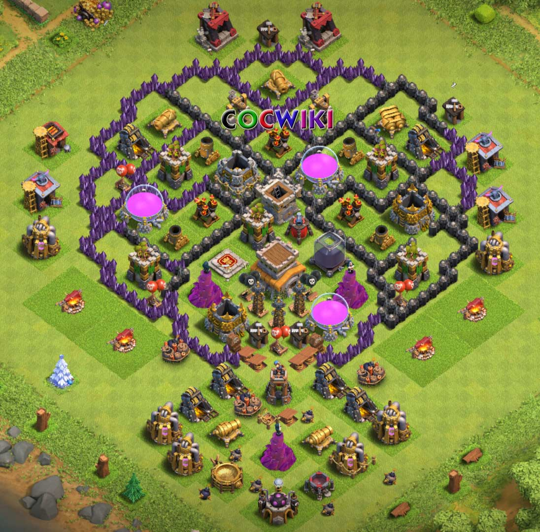 cool th8 village layout