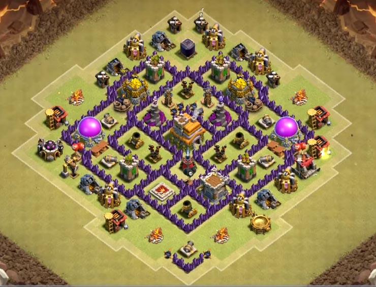 epic coc th7 war base