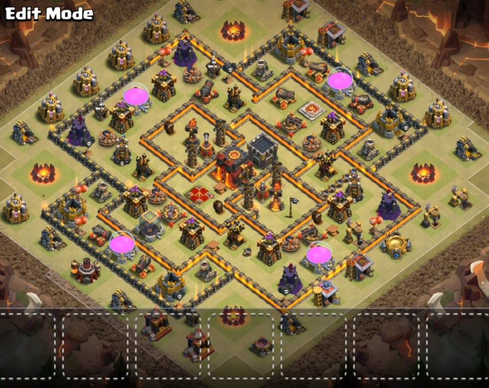 Base Coc Th 10 Terkuat Untuk War 10