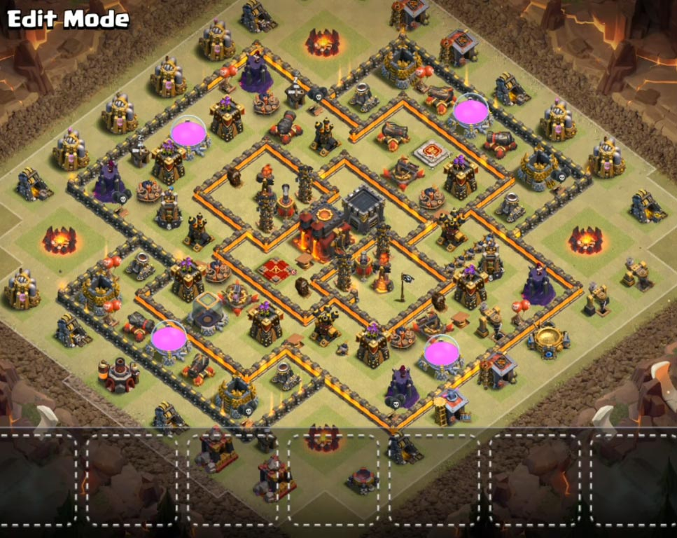 Coc Th10 War Base Base Th 10 2019 4