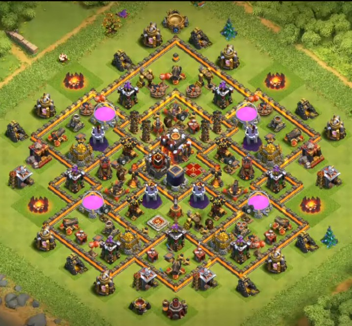 good level 10 farming base design