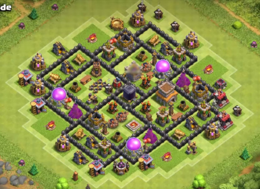 good town hall 8 farming layout